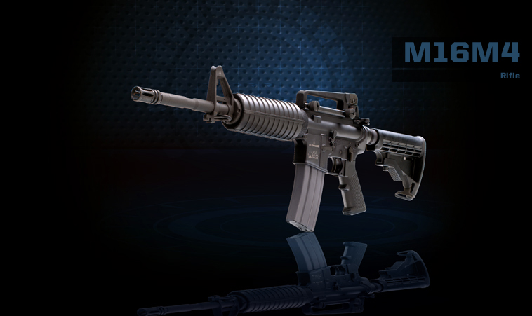 M16M4 Machine Gun Product Photo